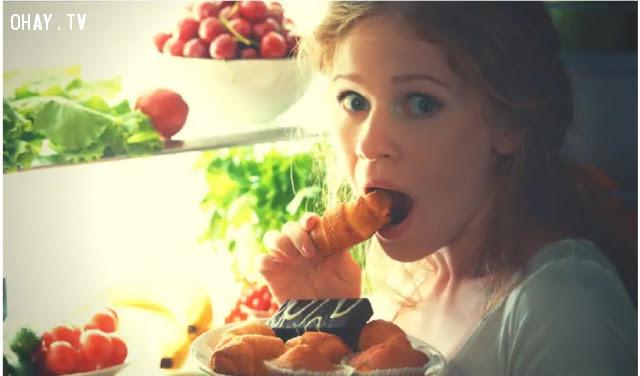 Đói liên tục,ăn nhiều đường,sống khỏe,thói quen xấu,dấu hiệu sức khỏe