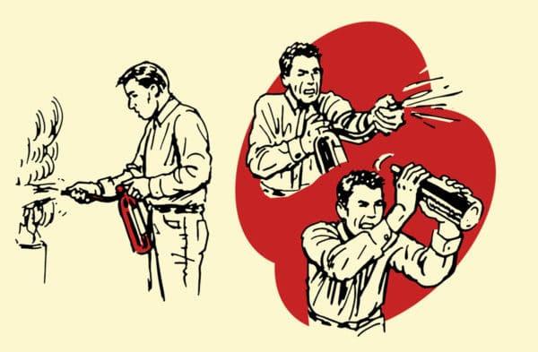 fire extinguisher improvised weapon illustration