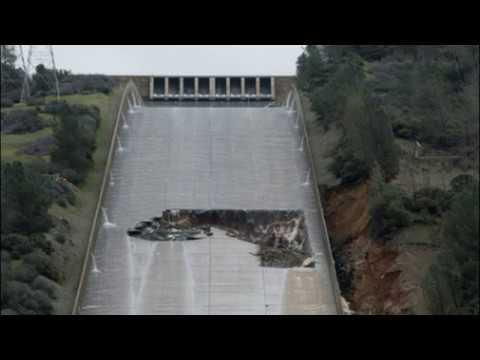 UPDATES - Huge Hole Opens Up at California's Oroville Dam Spillway  Hqdefault