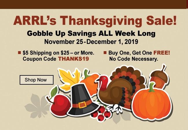 ARRL Thanksgiving Sale