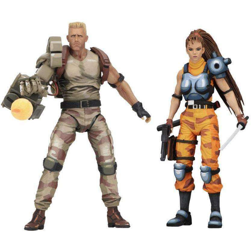 Image of Alien vs Predator Dutch Schaefer & Linn Kurosawa (Arcade Appearance) Action Figure Two Pack - MAY 2019