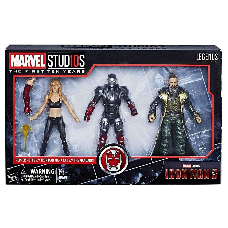 Image of Marvel Studios: The First Ten Years Marvel Legends - Iron Man 3: Pepper Potts, Iron Man, and Mandarin