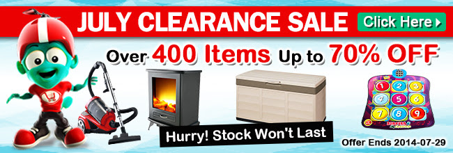 July clearance sale up to 70% off over 400 items at Crazysales.com.au