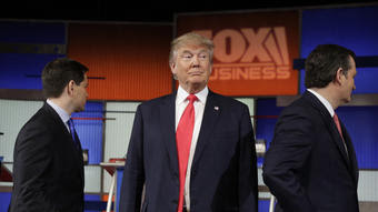 Trump, Cruz take aim at each other in year's first Republican debate
