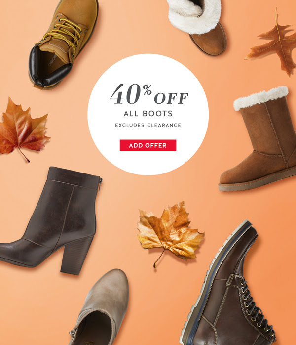 40% off Boots for the Family