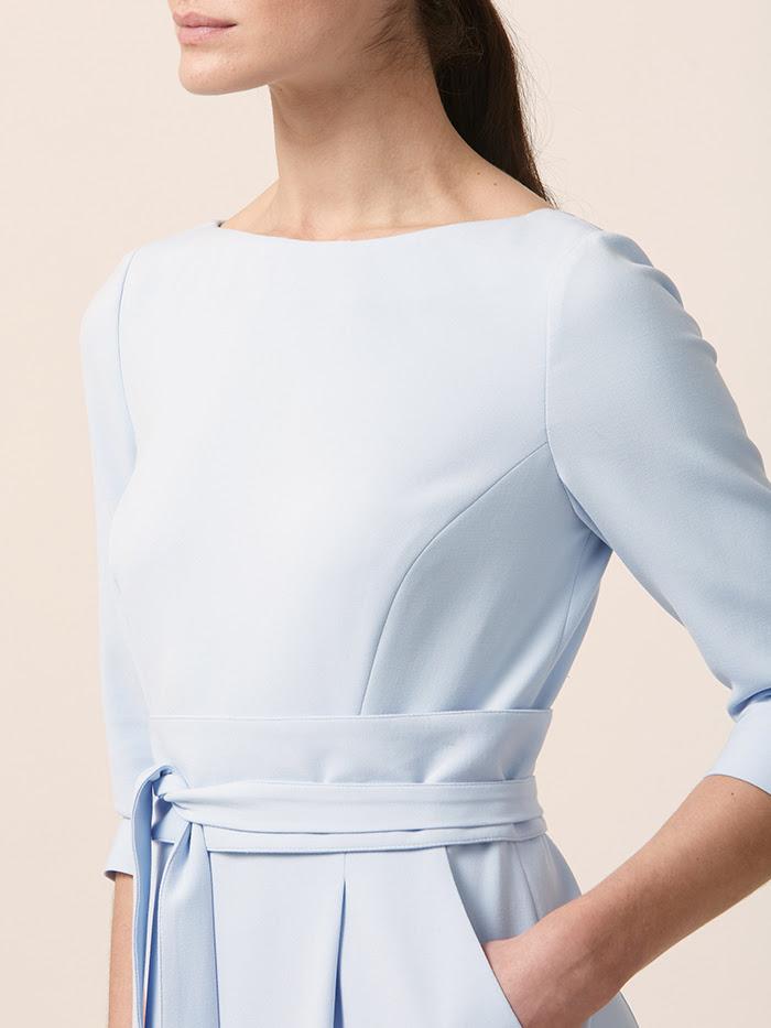 Obi Dress  in Pale Blue