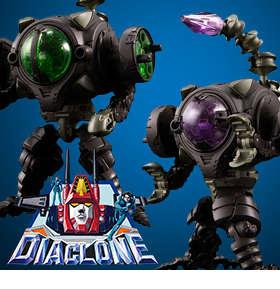 Diaclone Reboot - DA-26 Waruder (Dark Cathode Type) Two Pack Exclusive