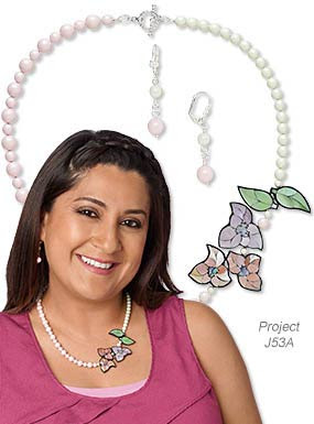 Single-Strand Necklace and Earring Set with Paua Shell Focal and Swarovski Crystals