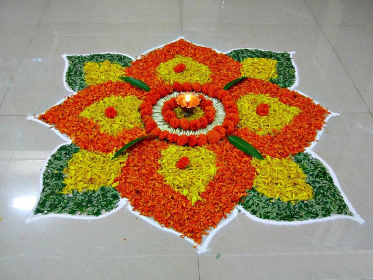 Flower Rangoli Design