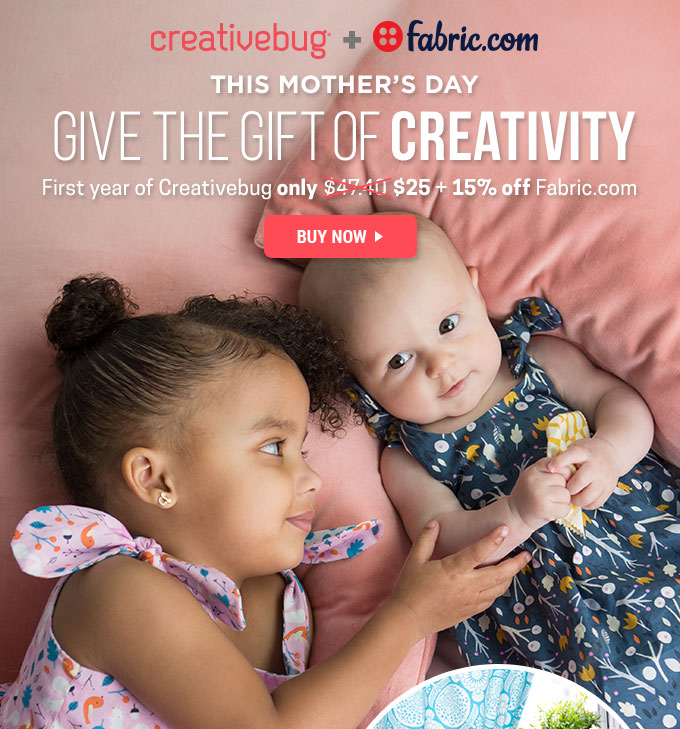 Creativebug Mother`s Day Offer...