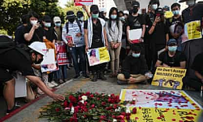 Myanmar coup: fresh demonstrations follow death of protester
