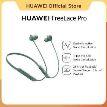 Huawei Freelace Pro | Earphone | Dual-mic Active Noise Cancellation | 24 Hours Playback | Awareness Mode | 14mm Driver