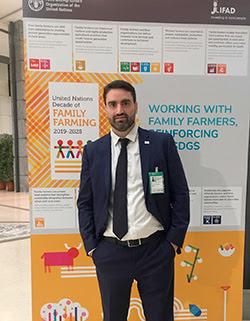 El director de la oficina internacional de UPA, Gonzalo Corrales, hoy en la sede de la FAO, en Roma.