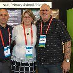 Darren Sudlow, NetNZ and Rachel & Rick Whalley, VLN Primary uLearn19
