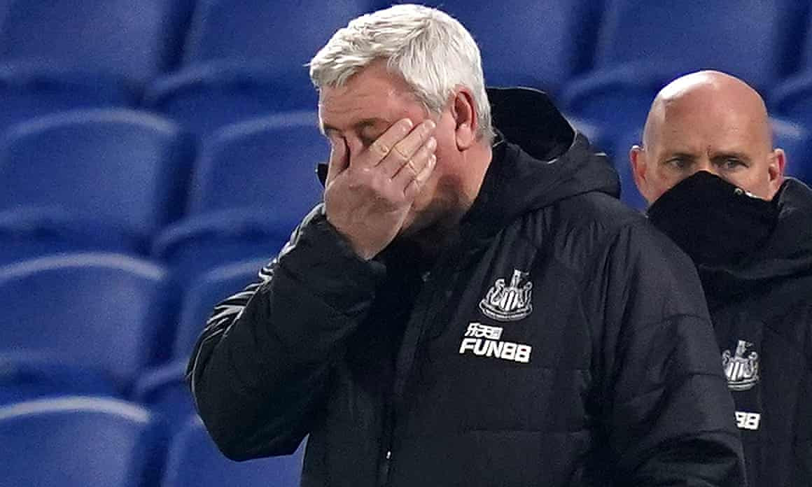 Steve Bruce takes in Newcastle's shambolic defeat at Brighton.