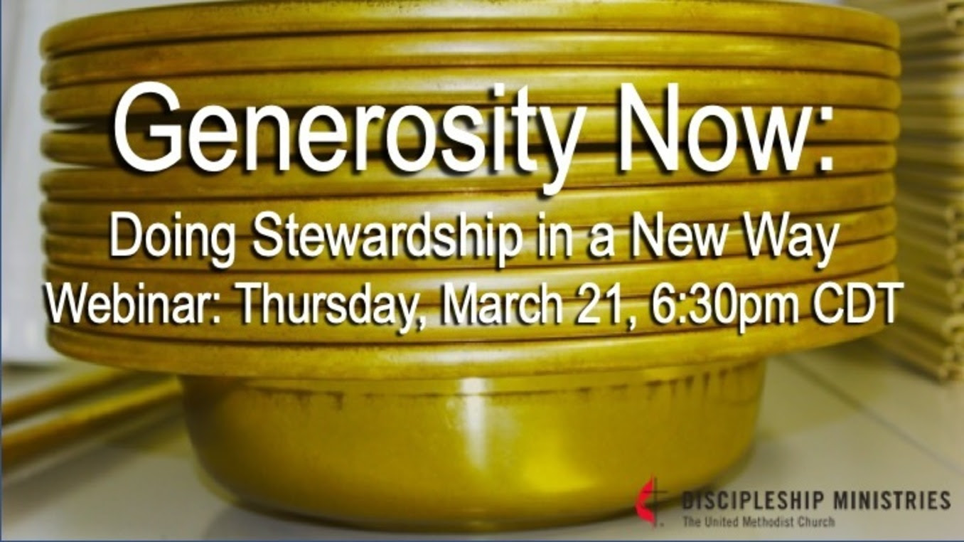 Generosity Now: Doing Stewardship In a New Way
