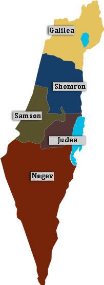 israelische wijngebieden