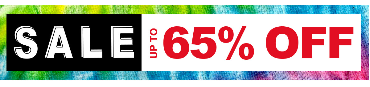 Sale! Up to 65% off