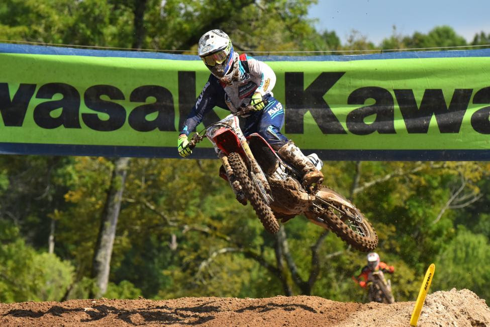 Chase Sexton redeemed himself from a topfive finish to earnthe 250 A class win.Photo: Ken Hill