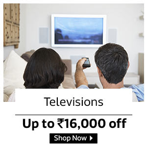 Up To Rs. 16000 Off on Televisions
