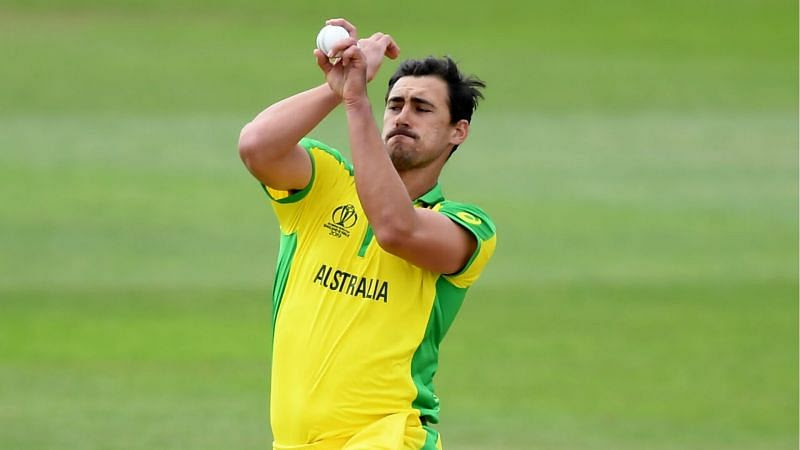 Mitchell Starc from Australia is currently leading the board.