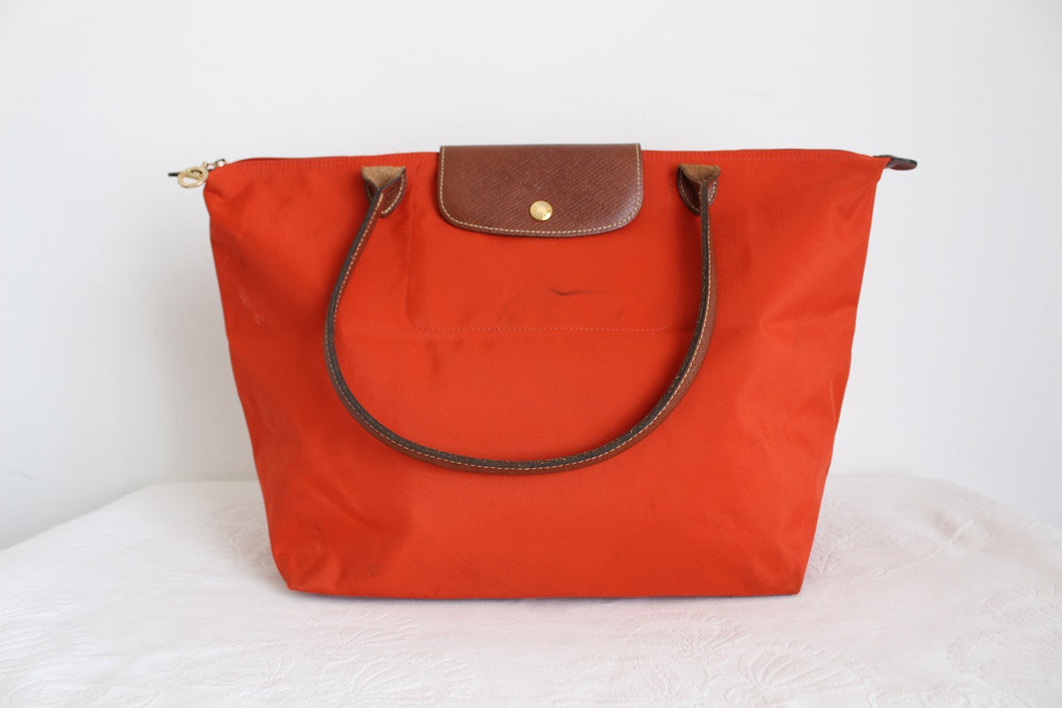 LONGCHAMP LE PLIAGE SHOPPING BAG ORANGE