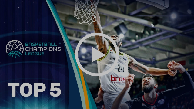 Top 5 Plays - Wednesday - Round of 16 - Gameday 1 - Basketball Champions League 2017-18