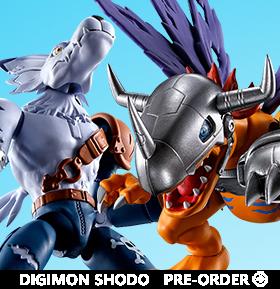 Digimon Adventure Shodo MetalGreymon & WereGarurumon Boxed Set of 2 Figures