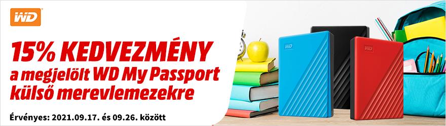 WD My Passport adattárolók kedvezménnyel