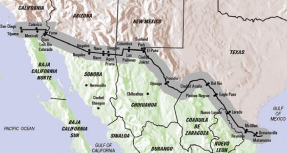 Map-US-Mexico-border