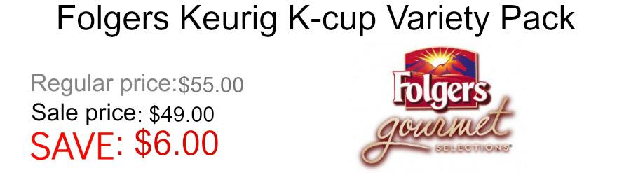 Folgers Gourmet Keurig K-cup coffee variety pack