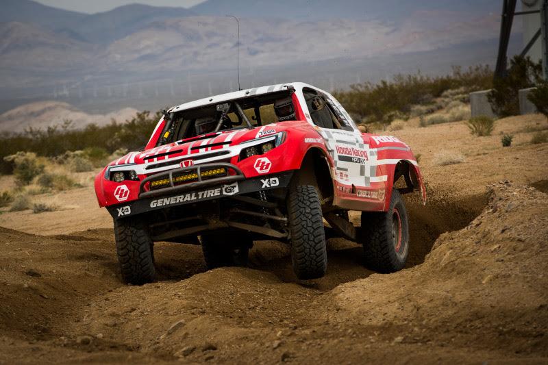 Honda Off Road, Honda HPD, Honda Ridgeline, General Tire, KMC Wheels, Baja Designs, Mint 400, Bink Designs