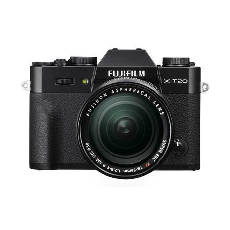 X-T20 Mirrorless Digital Camera Body, with XF 18-55mm F2.8-4 R LM OIS Lens, Black
