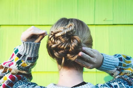 Knotted Fishtail Chignon Hair Tutorial