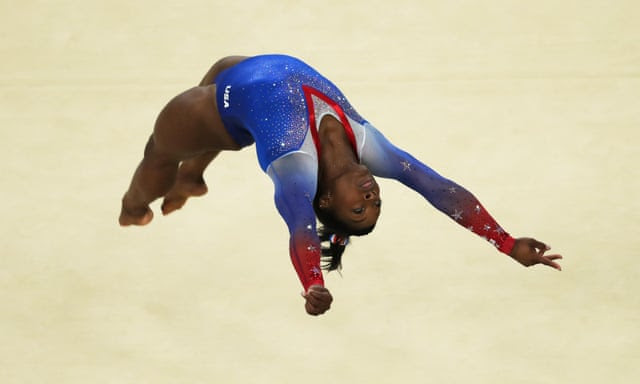 Gymnastics - Artistic - Olympics: Day 11RIO DE JANEIRO, BRAZIL - AUGUST 16: Simone Biles of the United States competes during the Women's Floor Final at Rio Olympic Arena on August 16, 2016 in Rio de Janeiro, Brazil. (Photo by Ian MacNicol/Getty Images)