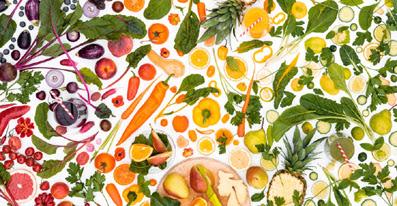 composizione frutta e verdura