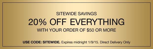 Sitewide savings!