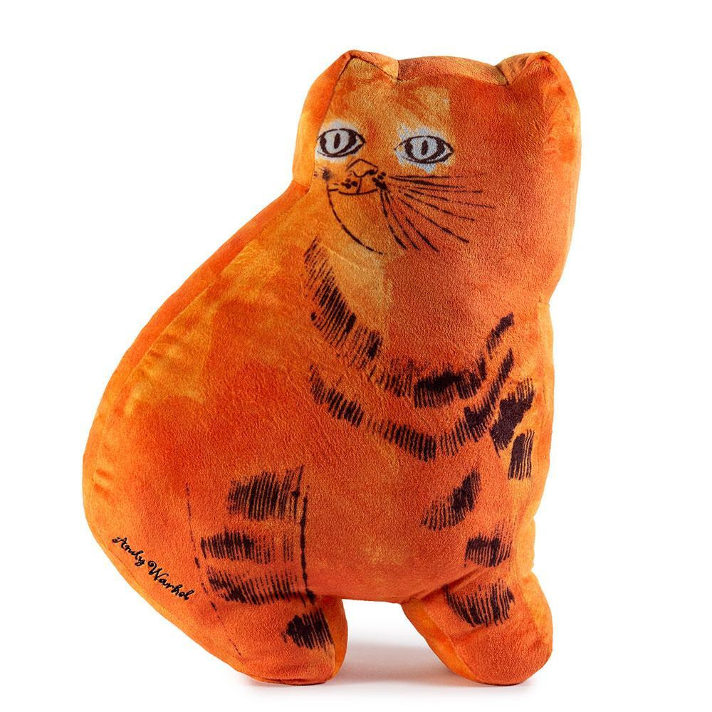 Andy Warhol Orange Sam the Cat Plush by Kidrobot