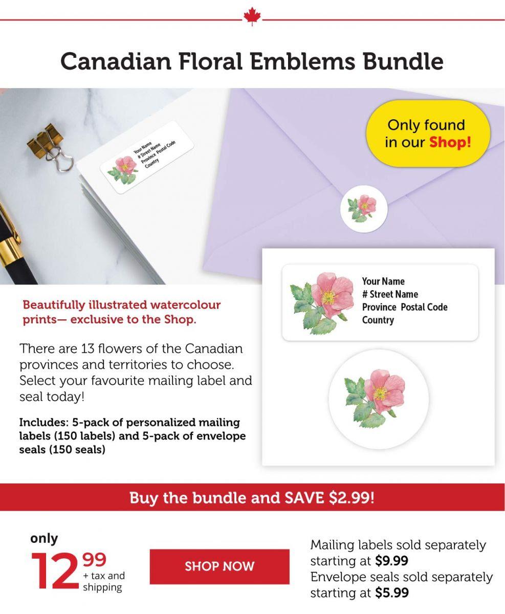 Canadian floral emblems Bundle