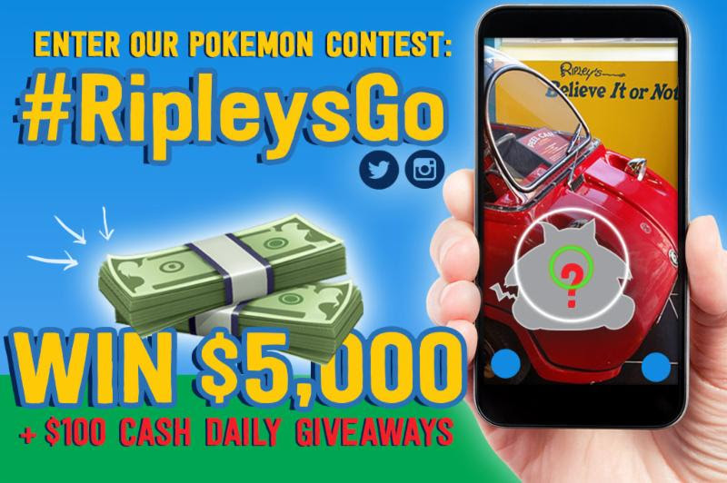 Ripley's Believe It Or Not Pokémon GO Contest