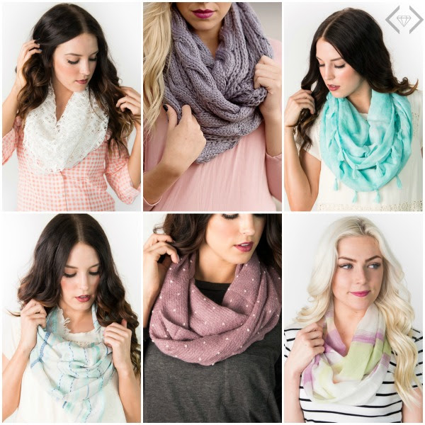 Scarf Grab Bag with 6 Pieces f...