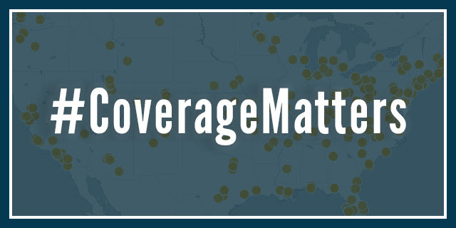 #CoverageMatters Map