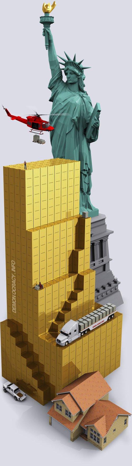 ouro-empilhado-estatua