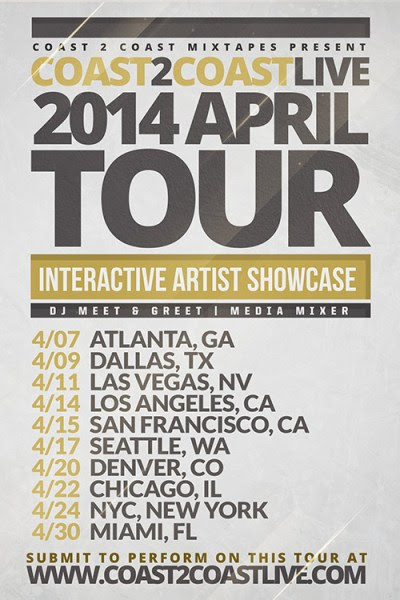 Coast 2 Coast LIVE April 2014 Tour