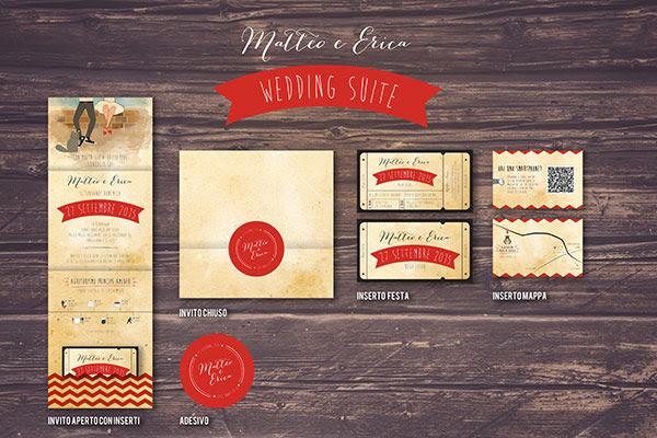 invito con mappa interattiva, adesivo per busta invito| Wedding suite matrimonio anni 50