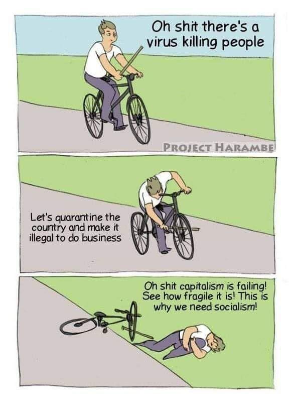 cartoon condemning Socialism with sarcasm