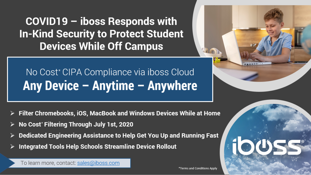 COVID19- iboss Responds with In-Kind Security to Protect Student Devices Off Campus