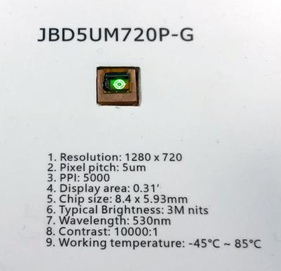 JBD 3 million nits 720p microLED microdisplay (CES 2020 photo)