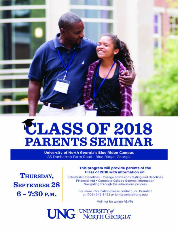 Parents Seminar at UNG poster