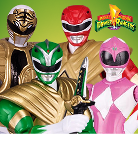 "MIGHTY MORPHIN POWER RANGERS LEGACY 5"" FIGURES"